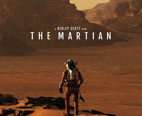 the man walk on the Mars